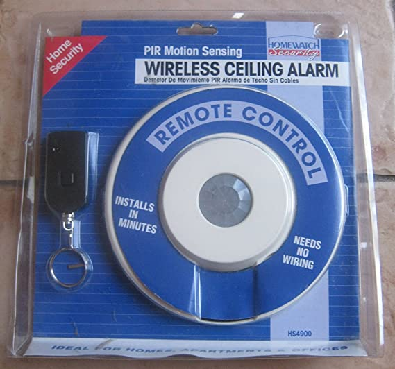 PIR Motion Sensing Wireless Ceiling Alarm; Remote Control; HomeWatch Security - Household Alarms And Detectors - Amazon.com