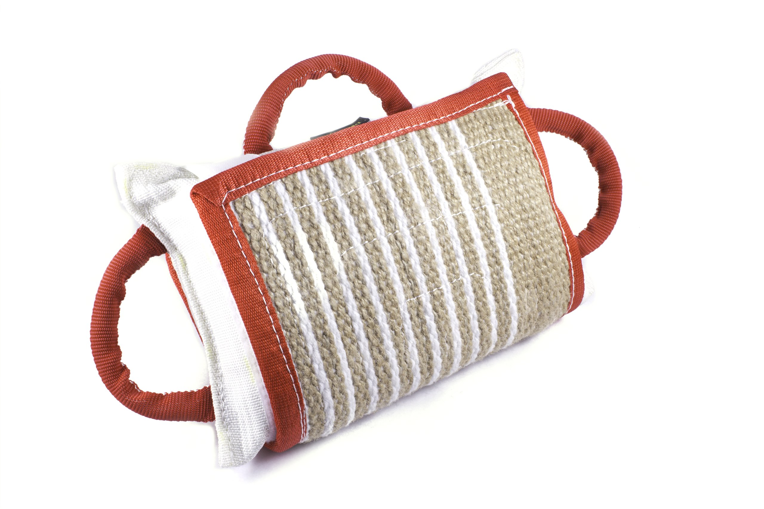 Dean & Tyler Pro Bite Natural Color Jute, Wide Pad Collar, 14.5 by 9.5-Inch