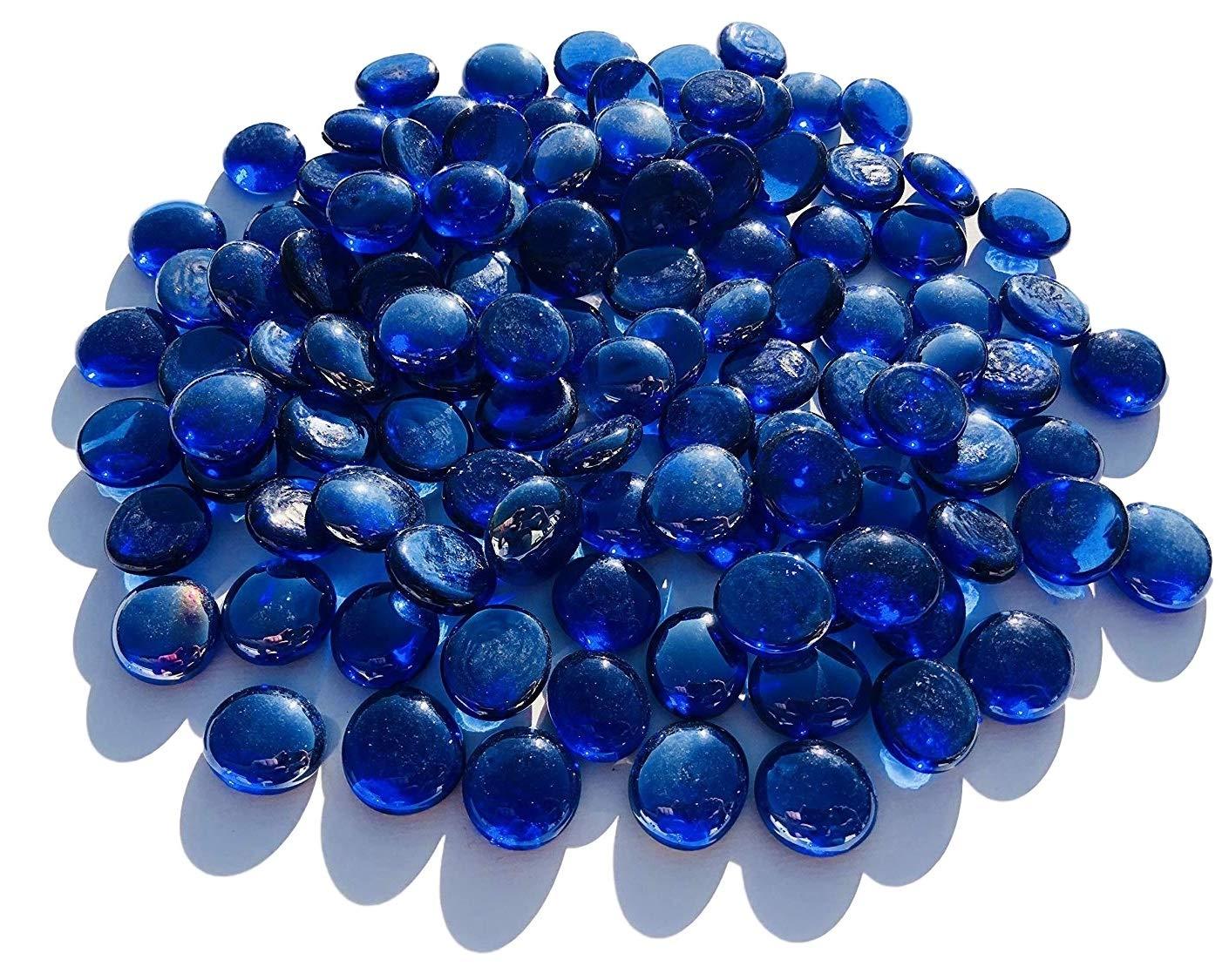 CRYSTAL KING - Sfere Decorative in Vetro, 2 cm, 500 g, Colore: Blu Scuro