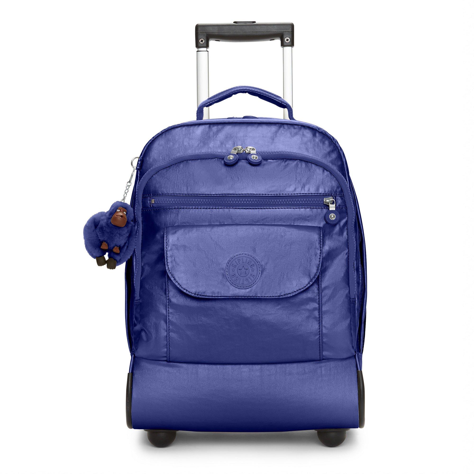 Kipling Women's Sanaa Metallic Rolling Backpack One Size Enchanted Purple Metallic by Kipling
