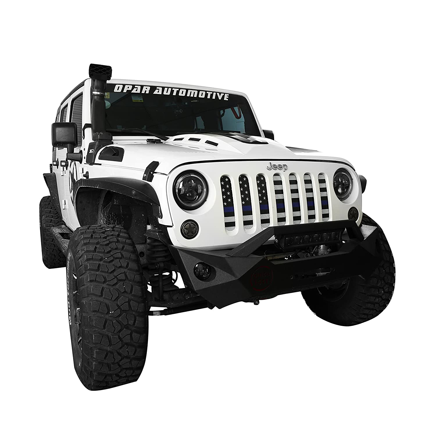 Hooke Road Front Us American Flag Jeep Grille Insert Old Glory For