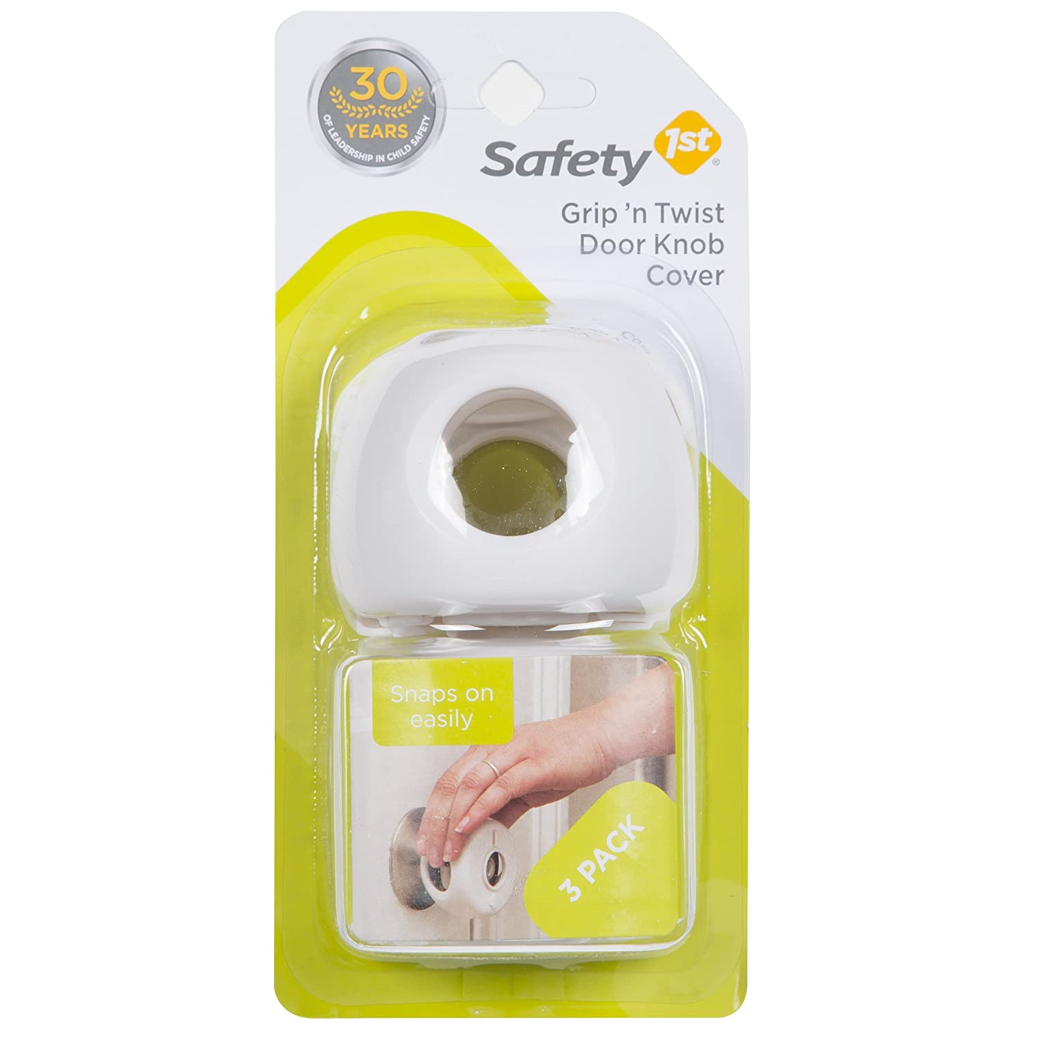 Safety 1st 4-Pack Grip N Twist Round Door Knob Covers Keeps Kids Out Baby Proof