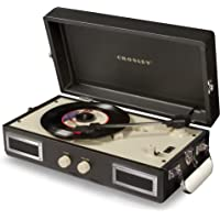 Crosley CR40 Portable Mini Turntable with Stereo Speakers (Black)