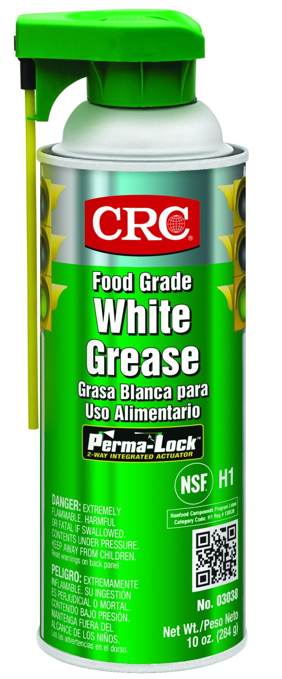 CRC Food Grade White Grease, 10 oz Aerosol Can, White by CRC