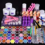 Cooserry 115 In 1 Acrylic Nail Kit - 48 Colors of Glitter Acrylic Powder And Liquid Set for Nails Professional Set - 5…