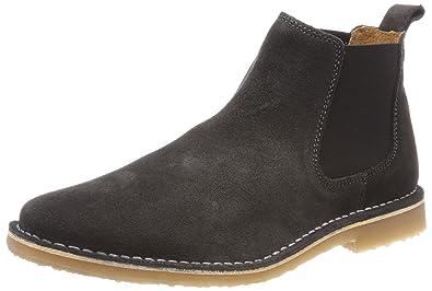 ba32418fcd81cd JACK   JONES Herren Jfwleo Suede Pirate Black Chelsea Boots  Amazon ...
