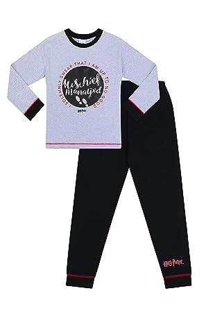 6341c76fbdec2 The Pyjama Factory - Ensemble de Pyjama - Garçon Noir Noir - Noir - 5 Ans