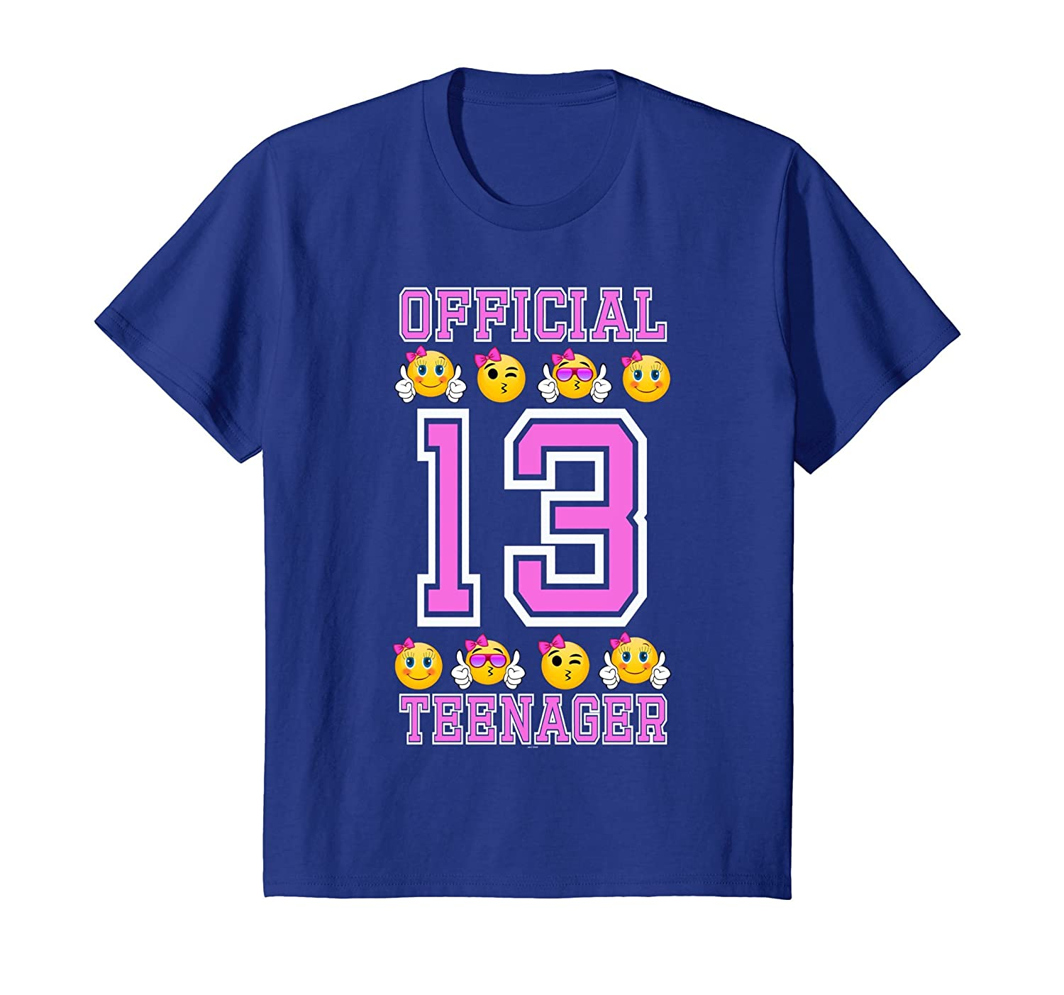 Emojicon 13th birthday gifts for teenagers age 13 girls Tee