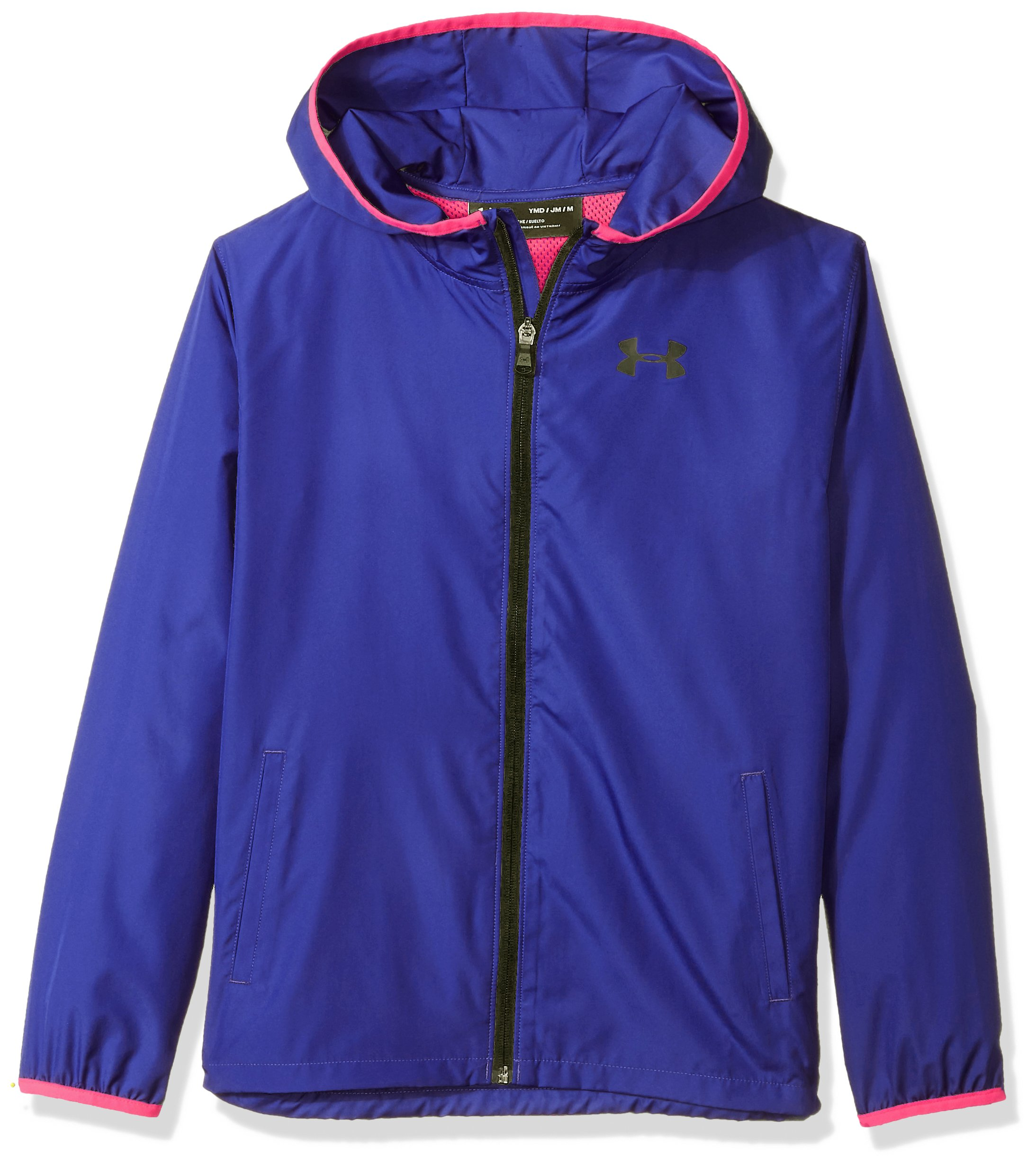 Under Armour Girls Sack Pack Full Zip Jacket, Constellation Purple (530)/Black, Youth X-Large by Under Armour