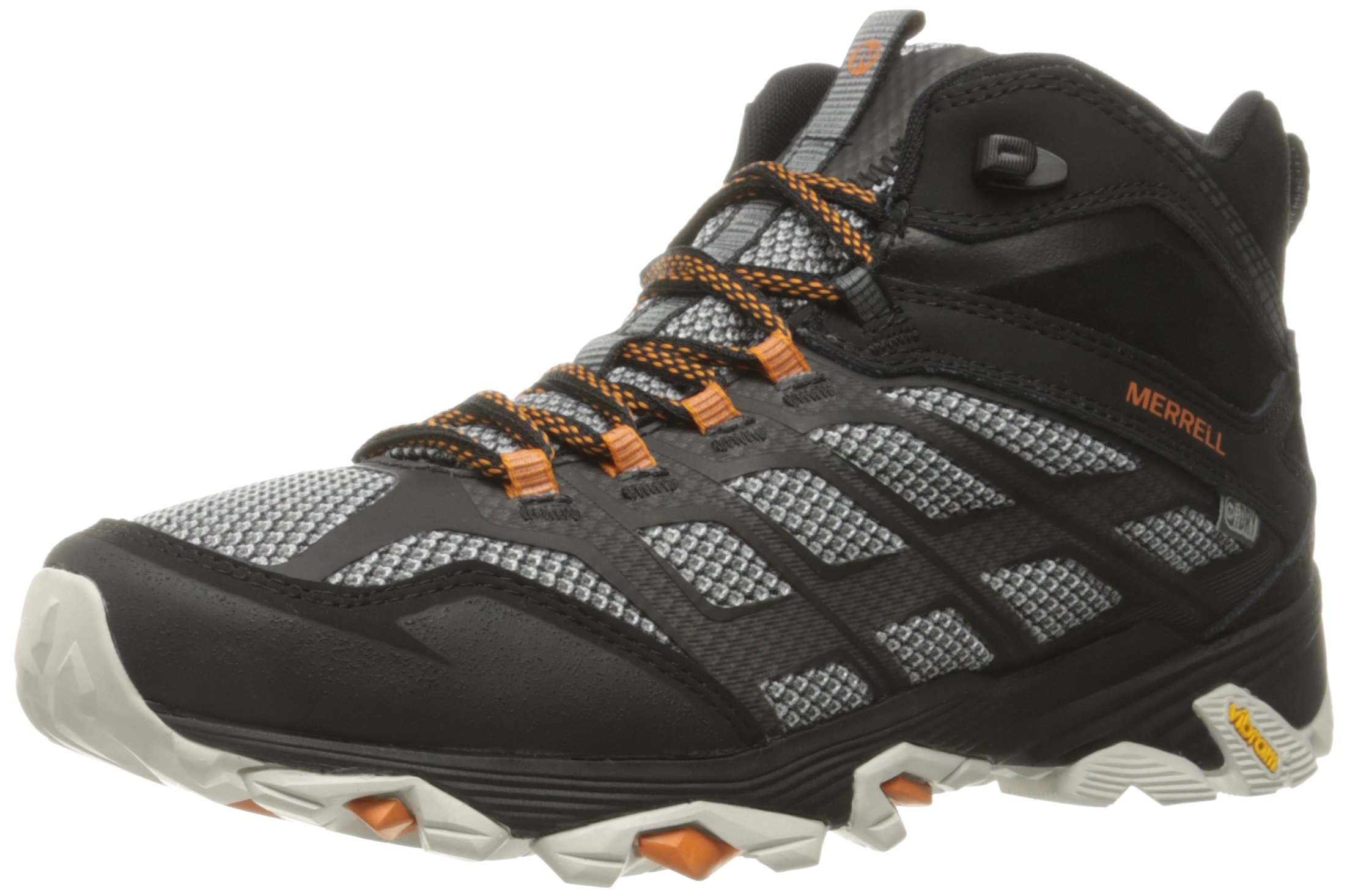 Merrell Men's Moab FST Mid Waterproof Hiking Shoe, Black, 9.5 M US
