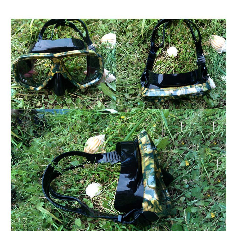 Diving mirror snorkeling army fan camouflage mask silicone myopia lens mask snorkeling three treasures snorkeling waterproof myopia HD glasses diving goggles
