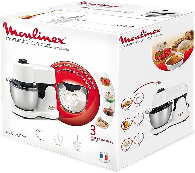 Moulinex Masterchef Compact - Robot de cocina (Color blanco, 360 mm, 170 mm, 300 mm, Acero inoxidable): Amazon.es: Hogar