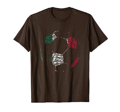 Amazon.com: Camiseta Equipos de Futbol Mexico - Mexican Soccer T-Shirt: Clothing