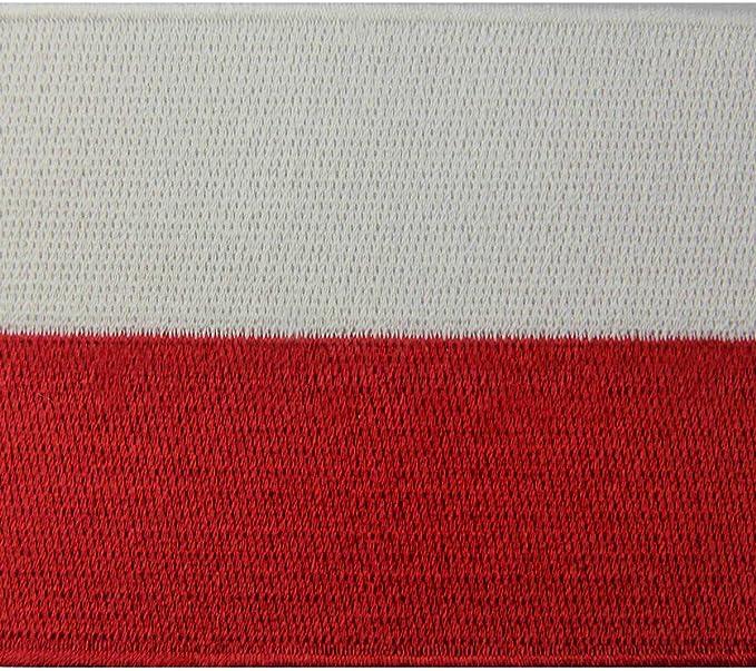Polen Flagge Polieren Nationales Emblem Bestickter Aufnäher Zum Aufbügeln Annähen Küche Haushalt