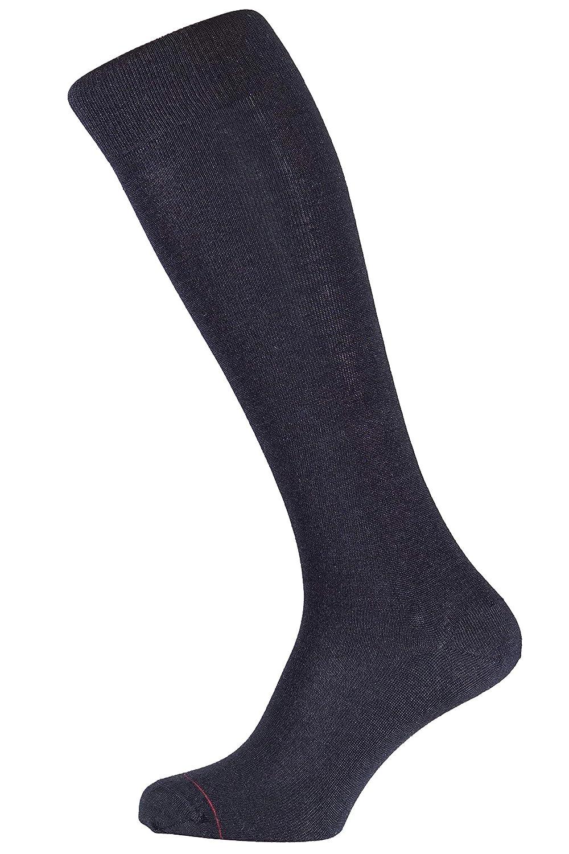 ALBERT KREUZ Calzettoni neri business inverno thermocool con lana merino e cotone