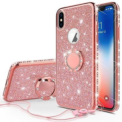 Amazon.com: Soga diamante bling glitter lindo estuche para ...