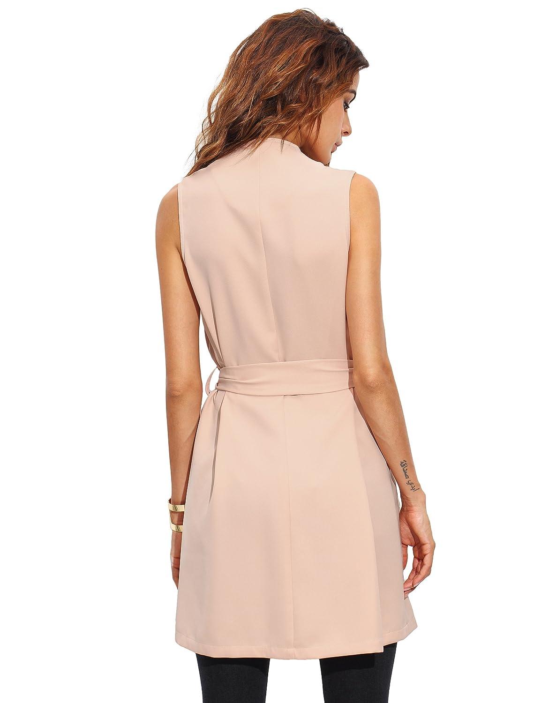 efced5657254ec Floerns Women's Bow Tie Waist Drape Collar Vest Cardigan at Amazon Women's  Clothing store: