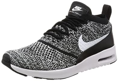 NIKE Air Max Thea Ultra Flyknit, Baskets Femme, Noir (Black/White)