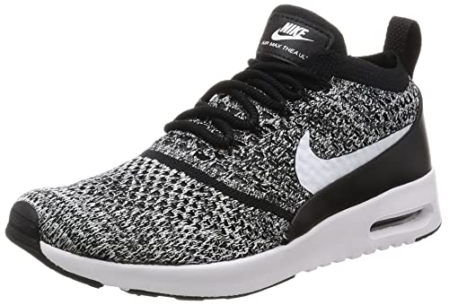 Nike Women's Air Max Thea Ultra Flyknit Trainers, Black (Black/White),
