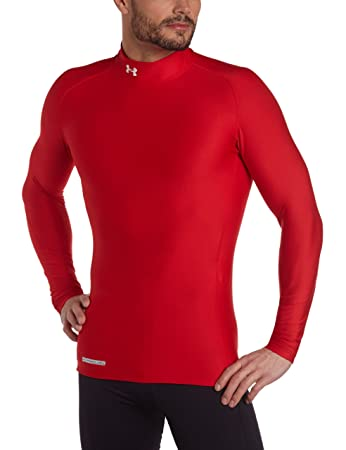 b4bb612ac97 Buy Under Armour men s ColdGear Evo Long Sleeve Compression Mock Large Red