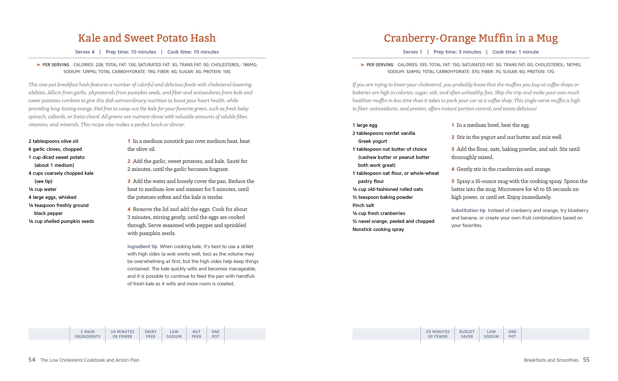The Low Cholesterol Cookbook and Action Plan: 4 Weeks to Cut Cholesterol and Improve Heart Health