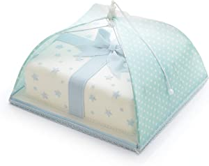 31cm Green & White Polka Dot Sweetly Does It Umbrella Food Cover