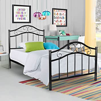 Amazon Com Kingpex Metal Platform Bed Frame Twin Size With