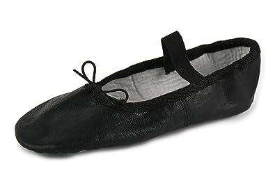 YUMP YUMPZ Balletschuh Moondancer Schwarz - Ballettschuhe Aus natürlichem Soft-Leder und Rauledersohle - Turnschläppchen/Gymnastikschuhe G5s60TF032