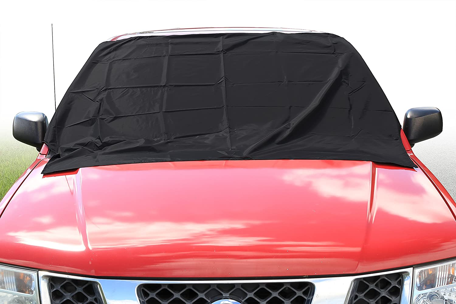 Great for Cars Camco Windshield Snow Cover RVs 45403 Trucks Dual Function with Integrated Silver Sun Shade