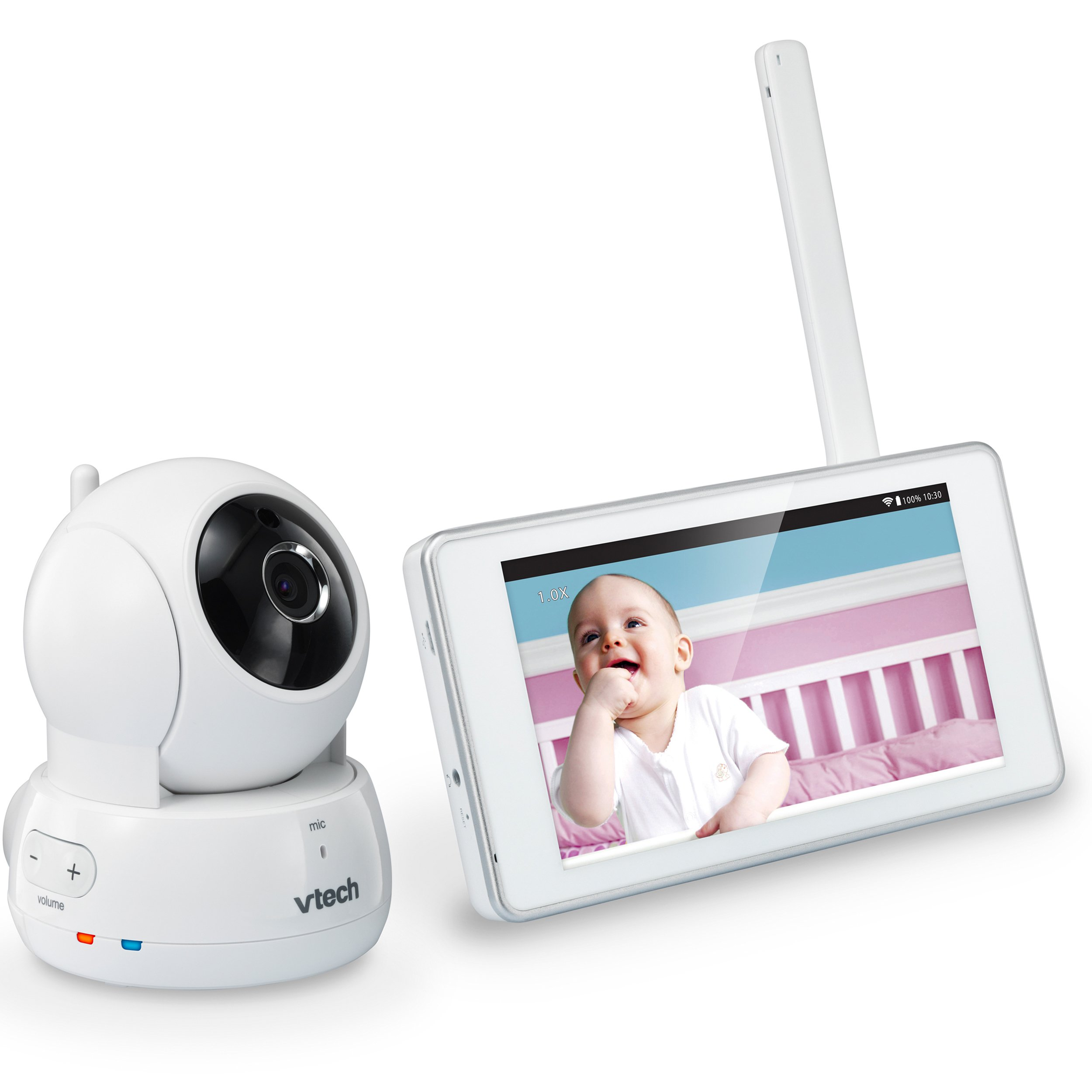 VTech VM991 Wireless WiFi Video Baby Monitor with Remote Access App, 5-inch Touch Screen, Remote Access Pan, Tilt & Zoom, Motion Alerts & Support for up to 10 Cameras by VTech (Image #1)