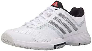 check out 7d2db 6d4bc adidas Performance Womens Barricade Court 2 W Training Footwear,WhiteMetallic  SilverBlack