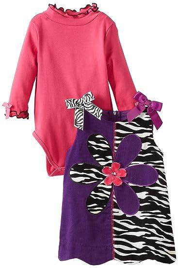 4838d1132 Amazon.com  Bonnie Baby Baby Girls  Zebra Corduroy Jumper