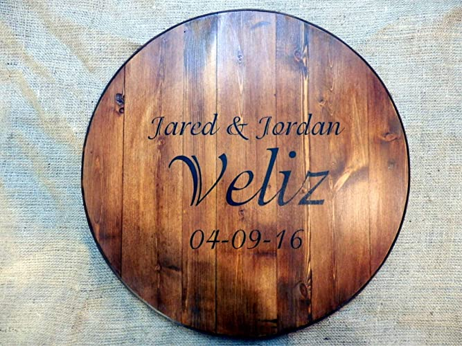 Amazoncom Personalized Lazy Susan Wedding Guest Book 16 Or 20