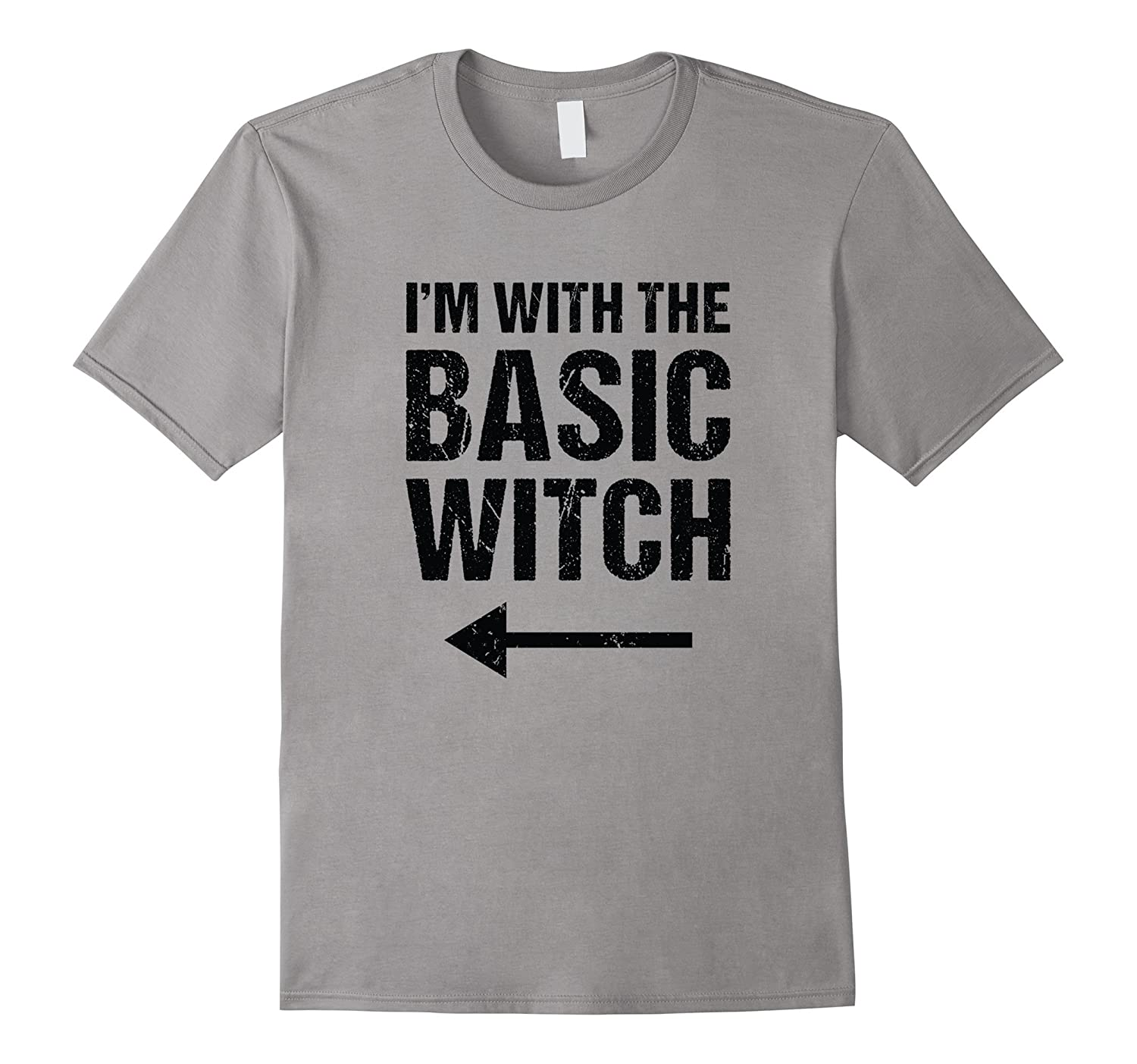 Halloween Couples Costume Shirt I'm With The Basic Witch-T-Shirt