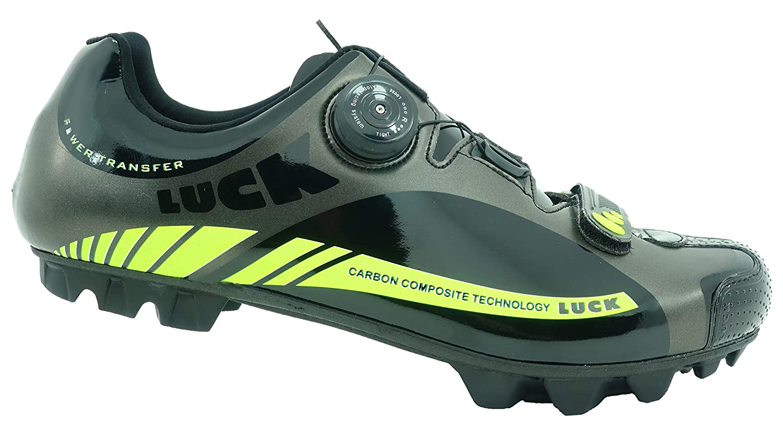 LUCK Zapatilla de Ciclismo Pro Revolution MTB, con Suela de Carbono y Sistema rotativo de precisión.(41 EU): Amazon.es: Deportes y aire libre