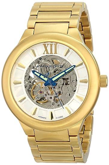 Android AD509BG - Reloj de Pulsera Hombre, Color Oro