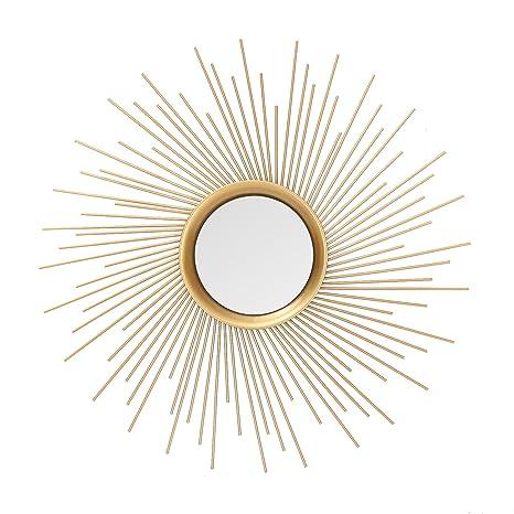 Review Asense Home Collection Sunburst Mirror, Classic Metal Decorative Wall Mirror (Sunburst)