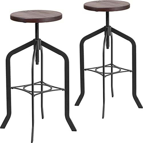 Flash Furniture 2 Pk. 30 Barstool with Swivel Lift Wood Seat
