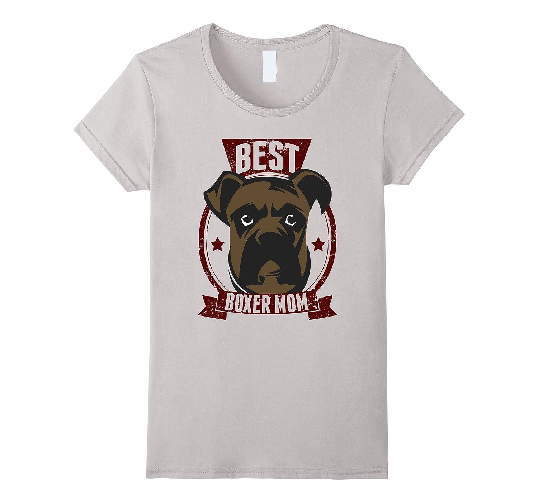 """""""Best Boxer Mom"""" Dog Lover T-shirt"""