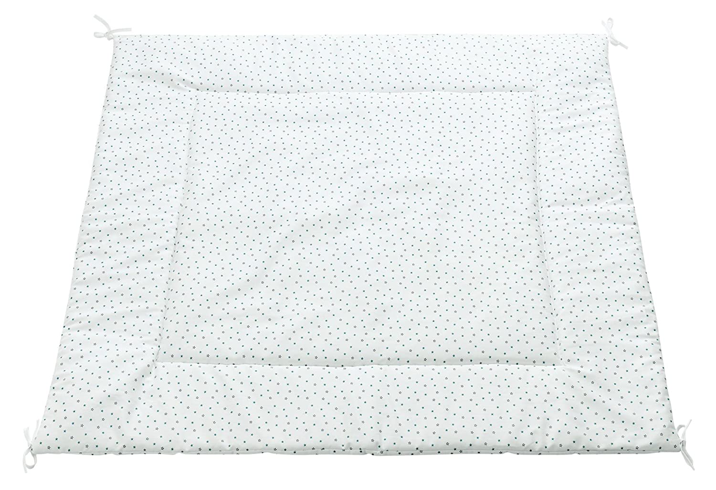 Alondra Mare 181 - Alfombra infantil cuadrada para cabaña tipi con estrellas, color blanco 647-181