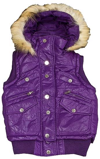 cheap for discount ccc94 bb4ce Benhao Wear Damen Weste mit abnehmbare Kapuze und Fell