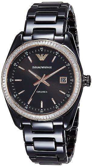Emporio Armani Mujer ar1496 deporte negro reloj: Emporio ...