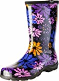 Sloggers Women's Rain and Garden Spring Floral Collection Garden Boots, Size 9, Flower Power