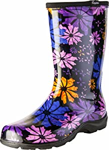 Sloggers Women's Waterproof Rain and Garden Boot with Comfort Insole, Flower Power, Size 9, Style 5016FP09