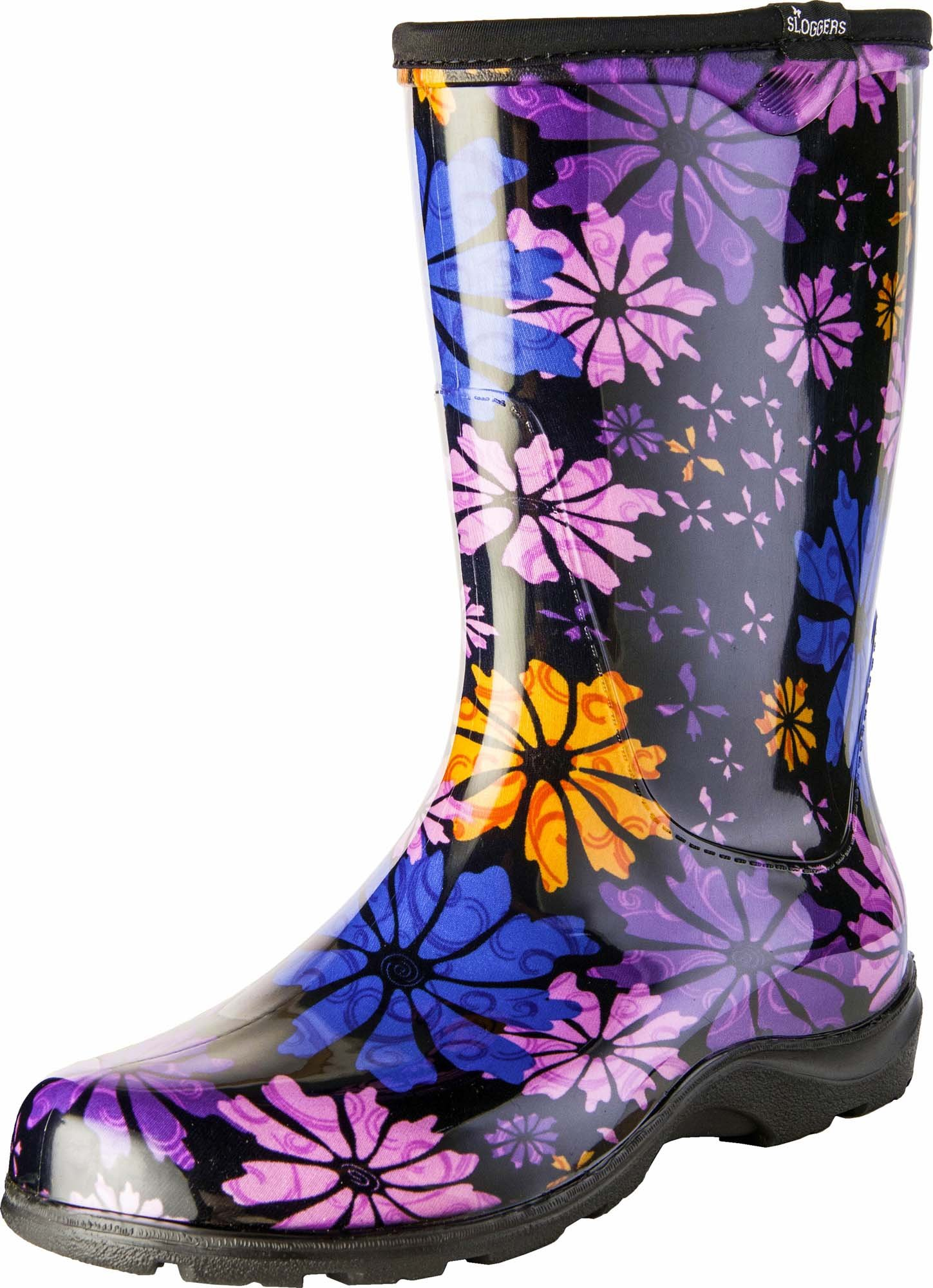 Sloggers Women's Waterproof Rain and Garden Boot with Comfort Insole, Flower Power, Size 6, Style 5016FP06