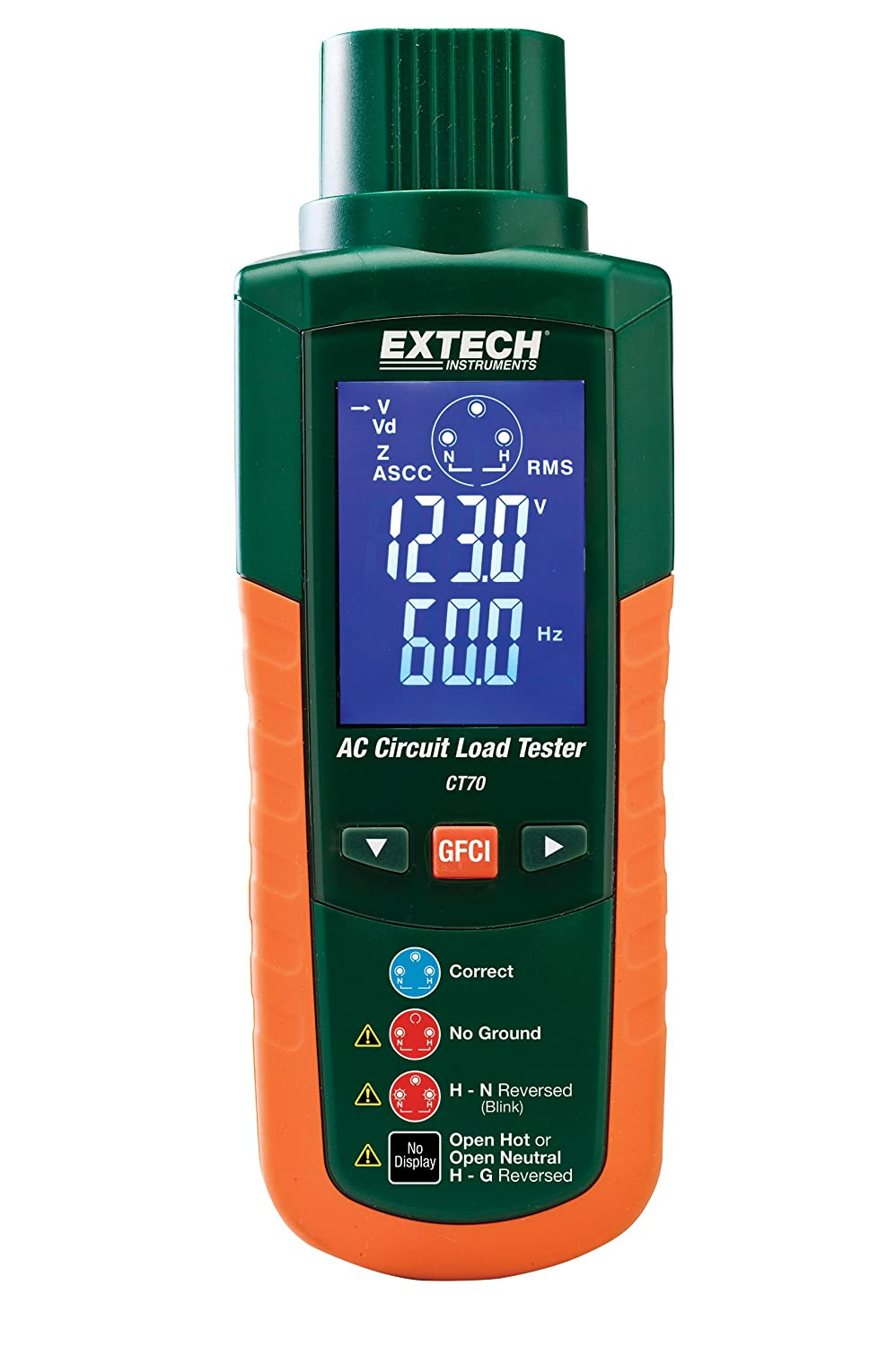 Extech Ct70 Ac Circuit Load Tester Voltage Testers Tools Home Improvement Electrical
