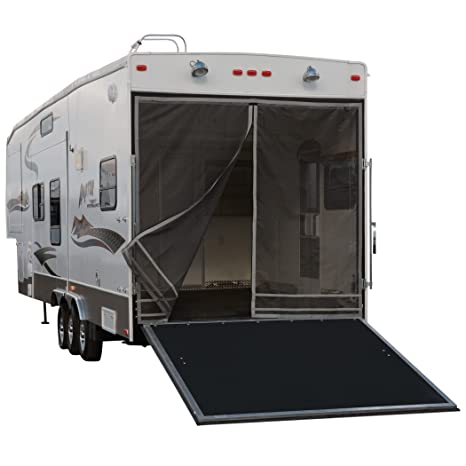 Classic Accessories RV Toy Hauler Trailer Tailgate Bug/Shade Adjustable  Screen, Steel Frame