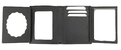 cartera de piel portaplaca para vigilante de seguridad (100 % PIEL DE UBRIQUE)