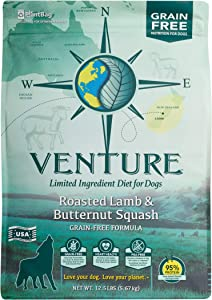 Earthborn Holistic Venture Roasted Lamb & Butternut Squash Grain Free Dry Dog Food