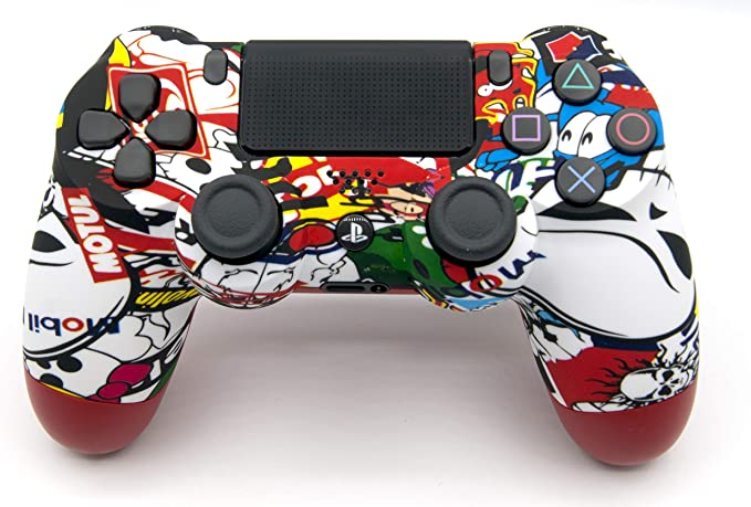 Soft Touch Sticker Bomb PlayStation 4 V2 (new version) Rapid Fire Modded Controller for COD Black Ops3, Infinity Warfare, AW, Destiny, Battlefield: Quick Scope, Drop Shot, Auto Run, Sniped Breath, Mim: Amazon.es: